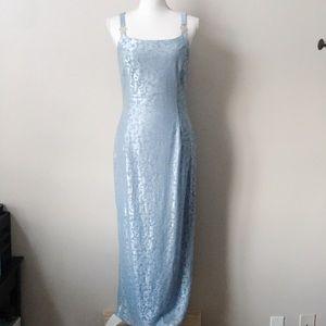 Vintage Jessica McClintock x Gunne Sax Blue Gown